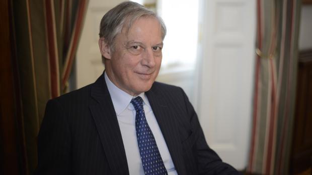 El economista durante la entrevista en la Fundación Rafael del Pino