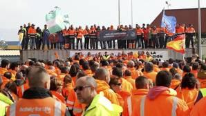 Manifestación de estibadores en Algeciras