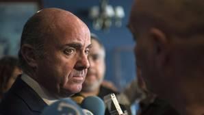 Luis De Guindos, ministro de Economía, este lunes en Getxo