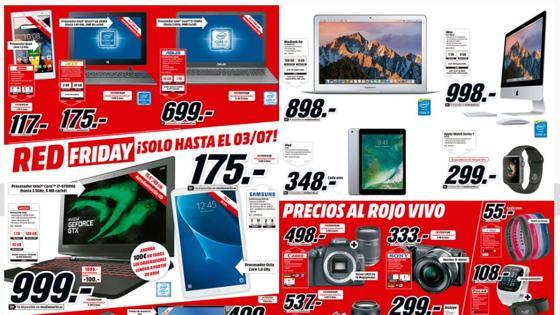 4aaae5360e4 20.27Media Markt trata de hacer frente a sus competidores con el Red Friday  (viernes rojo)