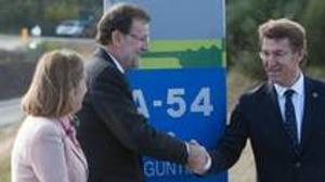 Rajoy asiste a la puessta en servicio de la autovía A-54
