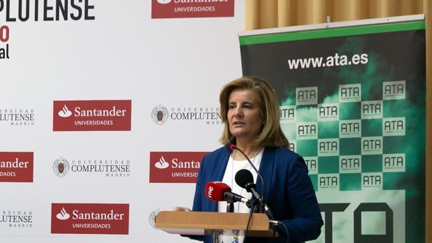 Fátima Báñez, en su comparecencia de este viernes