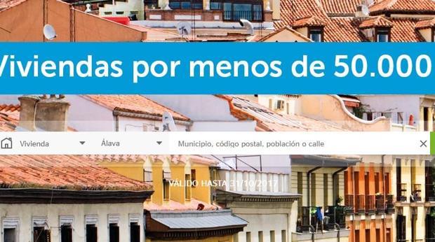 Campaña en la web de BBVA Vivienda