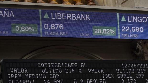 Los títulos de Liberbank se disparan hoy ante de su suspensión más de un 5%