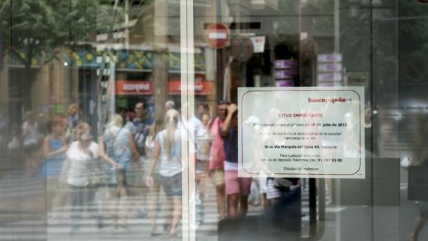 Sucursal de un banco cerrada y trasladada
