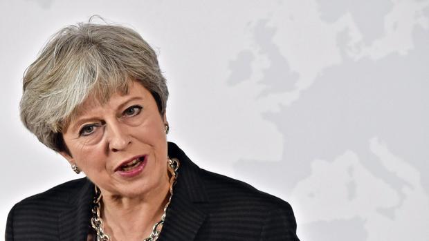 a primera ministra del Reino Unido, Theresa May, pronuncia un discurso sobre el «Brexit»