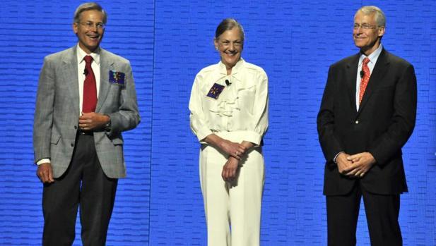 aAlice Walton (en el centro), en una imagen de archivo