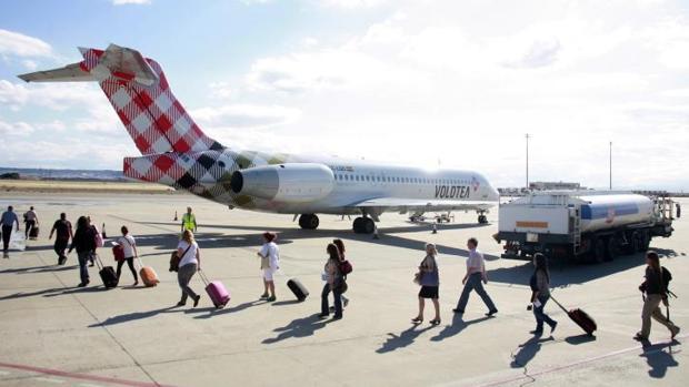 La aerolínea Volotea realizó su primer vuelo el 13 de junio de 2012