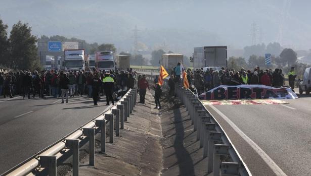 Jornada de huelga en Cataluña el pasado 8 de noviembre