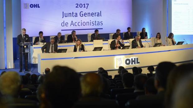 Junta de accionistas de OHL celebrada el pasado mayo
