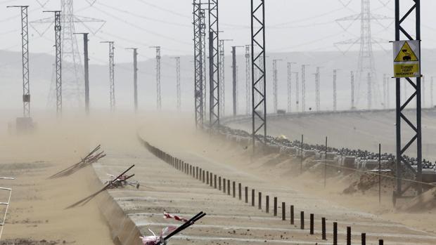 Vista de las obras del proyecto del tren de alta velocidad, en las proximidad que unirá La Meca con la ciudad de Medina