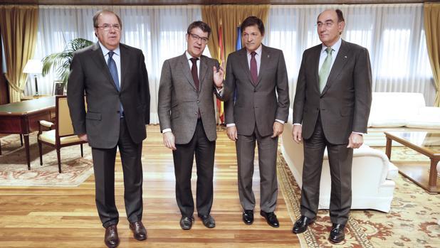 Juan Vicente Herrera, Álvaro Nadal, Javier Fernández e Ignacio Galán, esta tarde