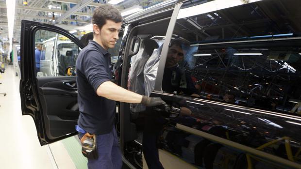 Imagen de archivo de la planta que tiene Mercedes- Benz en Vitoria