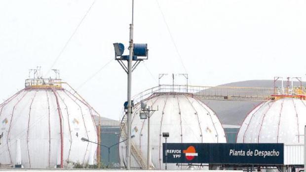 Imagen de archivo de una planta de gas de Repsol