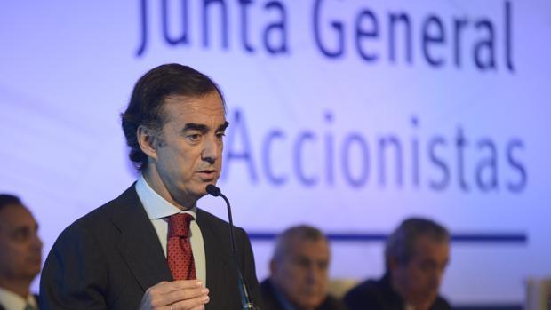 Juan Villar Mir, durante la junta de accionistas de OHL