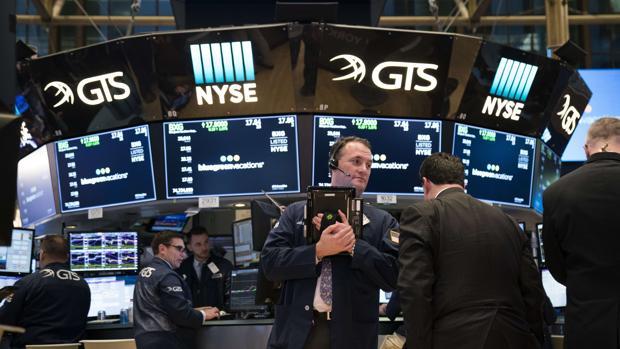 Analistas de Bolsa en Wall Street