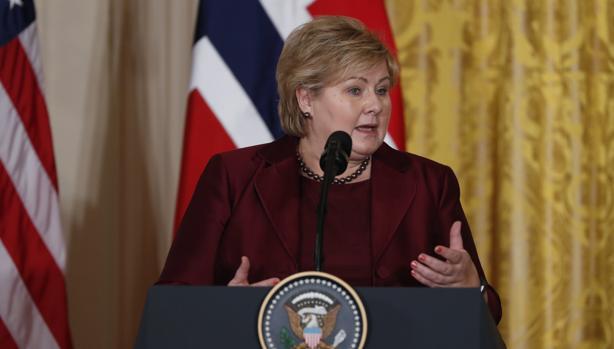 Erna Solberg, primera ministra Noruega
