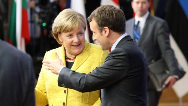 Merkel y Macron en una imagen de archivo