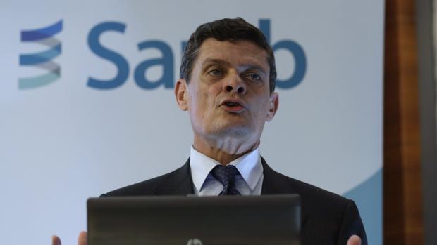 Jaime Echegoyen, presidente de la Sareb, durante una presentación de resultados