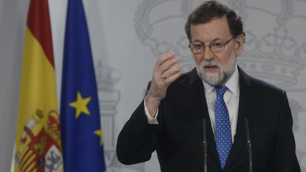 Mariano Rajoy, en una comparecencia en La Moncloa