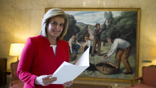 Fátima Báñez, momentos antes de la entrevista