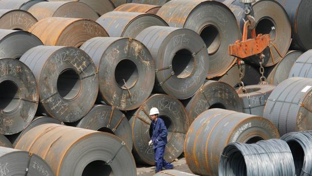 El acero procedente de China podría ser sometido a aranceles también en Estados Unidos.