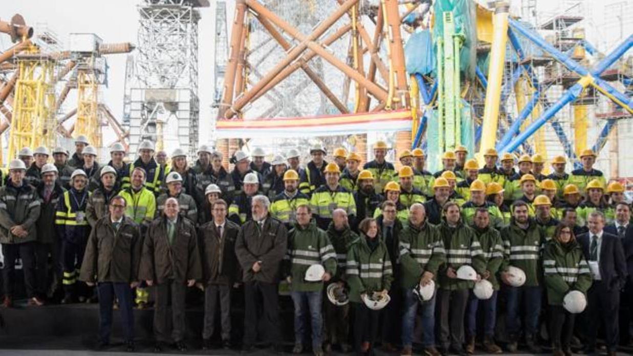Navantia entrega a Iberdrola las primeras plataformas del parque eólico marino más grande del mundo