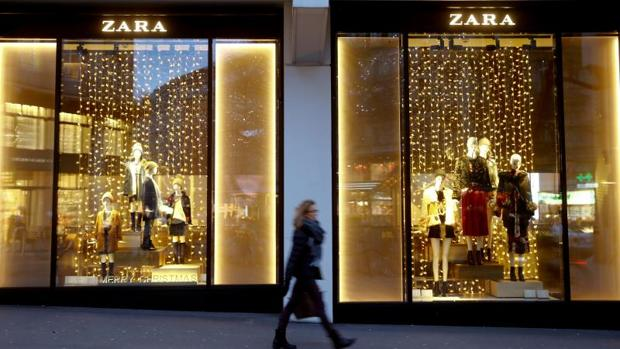 Escaparate de Inditex en Zurich