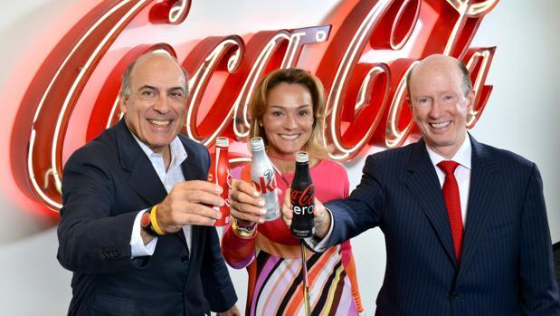 Sol Daurella, en el centro de la imagen, presidenta de Coca Cola European Partners
