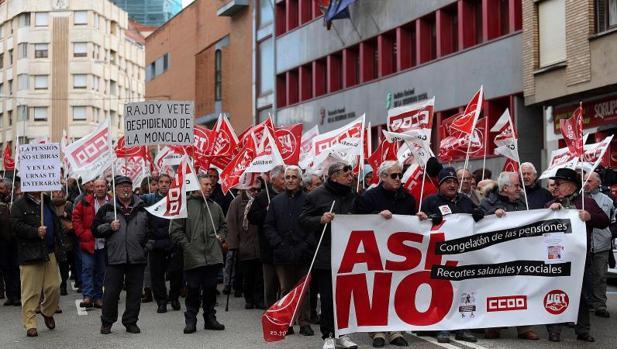 Protesta de pensionistas en Soria