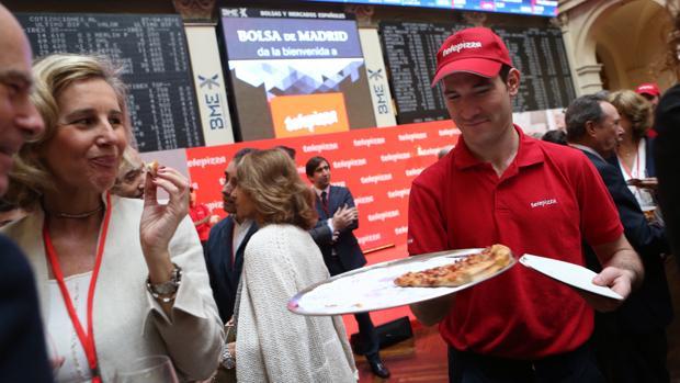 Imagen de la salida a Bolsa de Telepizza en 2016
