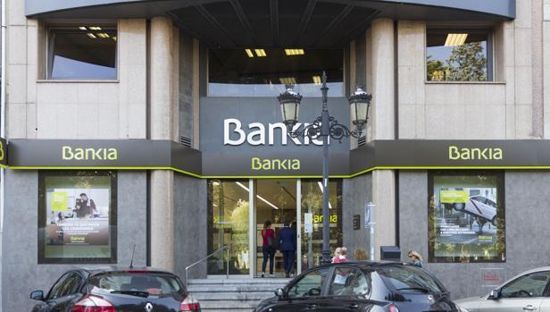 Fachada de una surcursal de Bankia.