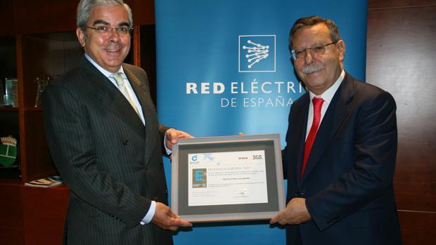 El presidentes de Red Eléctrica, José Folgado (dcha) en una imagen de archivo