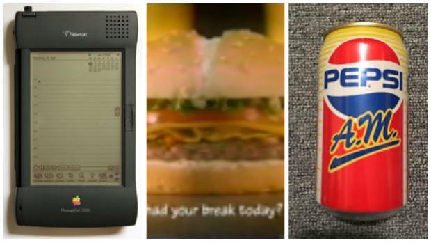 Apple Newton, McDonald's Arch Deluxe o Pepsi a.m. no tuvieron la acogida esperada