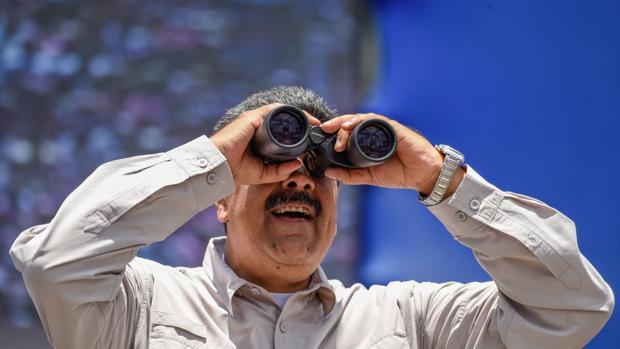 El presidente de Venezuela, Nicolás Maduro, durante la campaña en Venezuela