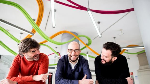 Equipo de Muno: Jorge Tercero, Ion Cuevas-Mons y Chechu Salas