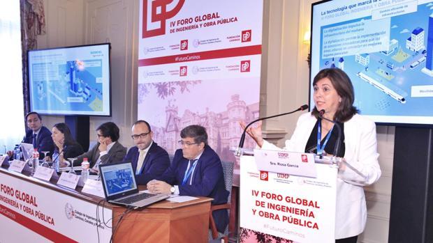 Rosa García CEO de Siemens, durante su intervención