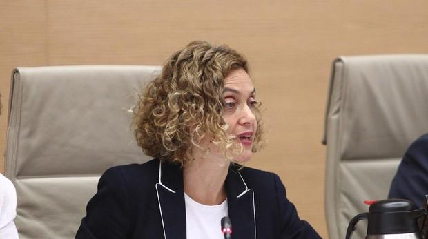 La ministra de Política Territorial y Función Pública, Meritxell Batet, en el Congreso de los Diputados