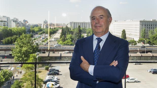 Santiago Aguirre, presidente del consejo de administración de Savills Aguirre Newman, en la nueva sede en La Castellana