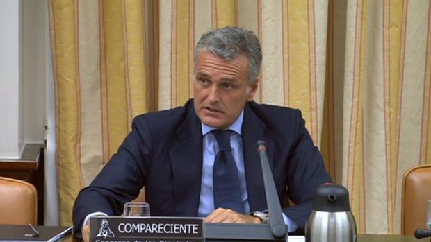 El presidente de Pwc España, Gonzalo Sánchez, este miércoles en el Congreso de los Diputados