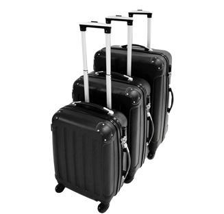 19 17Juego de maletas Todeco de plástico ABS de cuatro ruedas y rotación.  Consíguelo por 88 7d4e56eab248