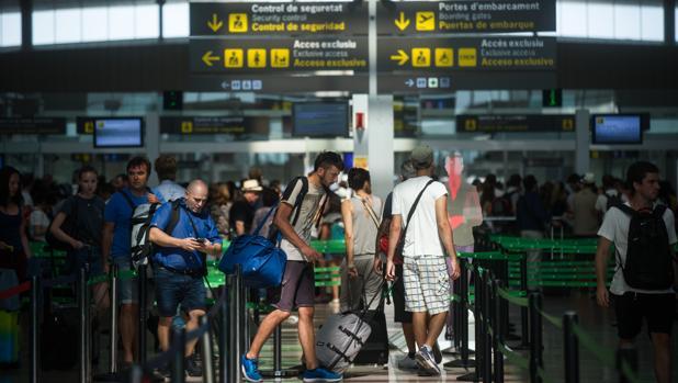 Imagen del pasado verano en el aeropuerto de El Prat