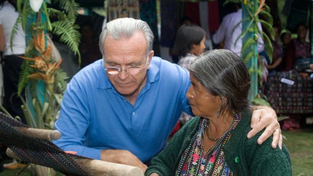 Isidre Fainé de cooperación en Guatemala