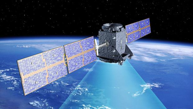 Imagen de archivo de un satélite Galileo en órbita