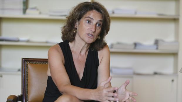 La ministra de Transición Ecológica, Teresa Ribera, en una entrevista con ABC