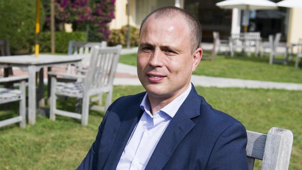 Alberto Hernández, director genera de Incibe, durante su entrevista con ABC