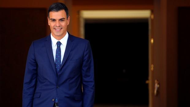Pedro Sánchez, presidente del Gobierno, en Moncloa la semana anterior