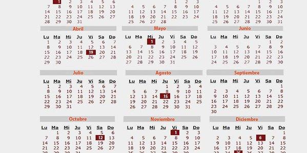 Calendario Laboral 2019 Todos Los Dias Festivos De Tu Comunidad