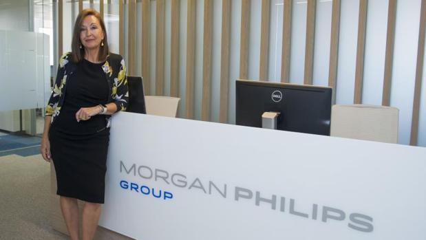 Montserrat Luquero, directora general de Morgan Philips Hudson, en su nueva sede