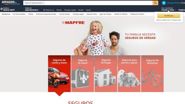 Mapfre publicita desde ahora sus pólizas en el «marketplace» de Amazon